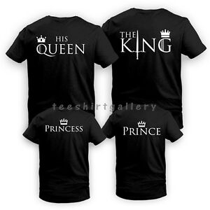 cd9d7b6d83d9 King Queen His Queen Her King Couple Matching Funny LOVE Valentine's ...