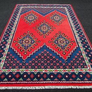 Orient Teppich Berber 297 X 207 Cm Rot Blau Handgeknupft Red Carpet