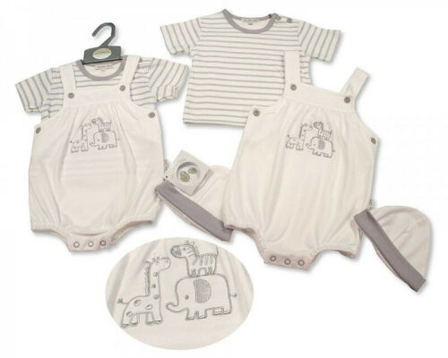 Baby boys Spanish style Romper dungarees white Little chick NB 0-3 m 3-6 m