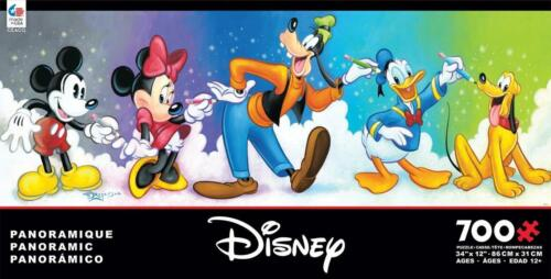 CEACO DISNEY PANORAMIC JIGSAW PUZZLE FAB 5-700 PCS GOOFY DONALD DUCK #2919-4
