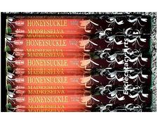 Hem Honeysuckle Incense 5 x 20 Stick, 100 Incense Sticks Floral