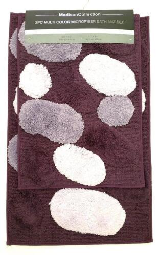 Home Garden Madison 2 Pc Stone Multi Color Bathroom Rug Set Soft Microfiber Bath Mat 5 Bathmats Rugs Toilet Covers Adsmoh Org Ng