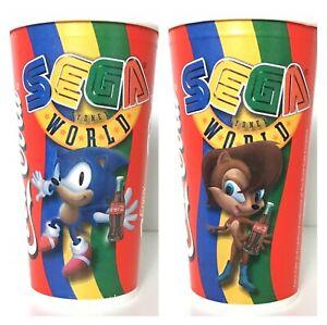 Sega world Sydney paper cups Coca Cola sonic sally RARE