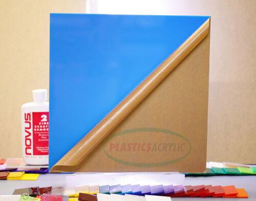 "2648 Blue-Light Translucent Acrylic Plexiglass sheet 1//8/"" x 12/"" x 24/"""
