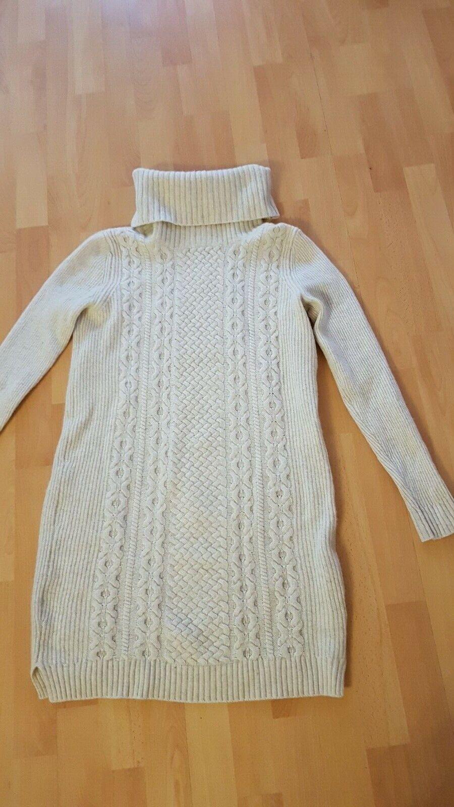 Strickkleid Kleid  Esprit Gr M  36 38 Wolle  natur