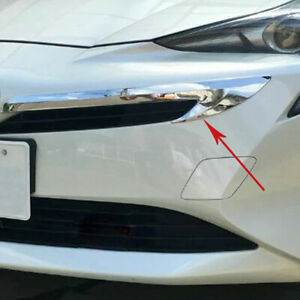 For-Toyota-Prius-2016-2017-ABS-Chrome-Front-Grill-grille-Garnish-Trim