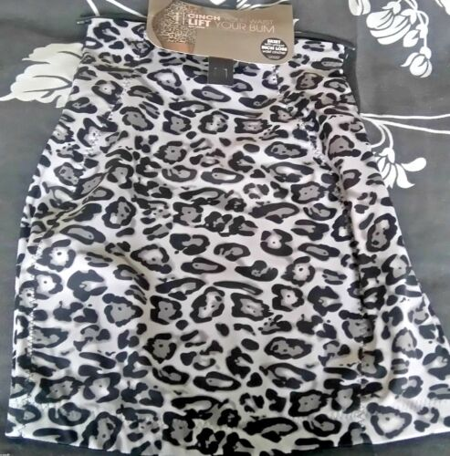 Plus Size Ex Ann summers Multi Control Skirt Polyamide Leopard Print  Size 14-20