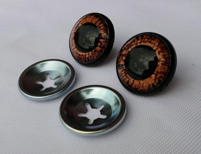 Ojos de seguridad negros 24 mm para osos de peluche amigurumi juguetes animales