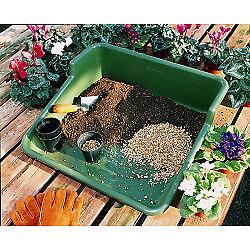 Pianta da giardino in plastica l/'IMPREGNAMENTO CON VASSOIO-in ordine giardino o serra-Verde