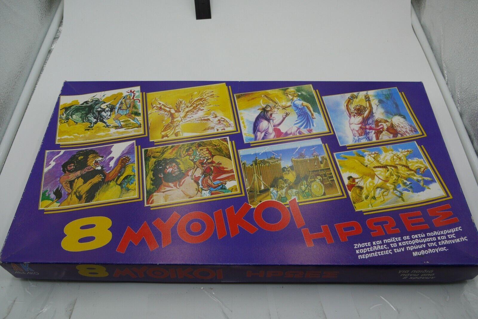 VINTAGE 80'S 8 MYTHICAL MYTHIC HEROES GREEK  tavola gioco ADELKO completare  online economico