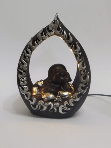 Buddha Mönch LED beleuchtet Monk Bonze Deko Thai  Zen Feng Shui  Figur Skulptur