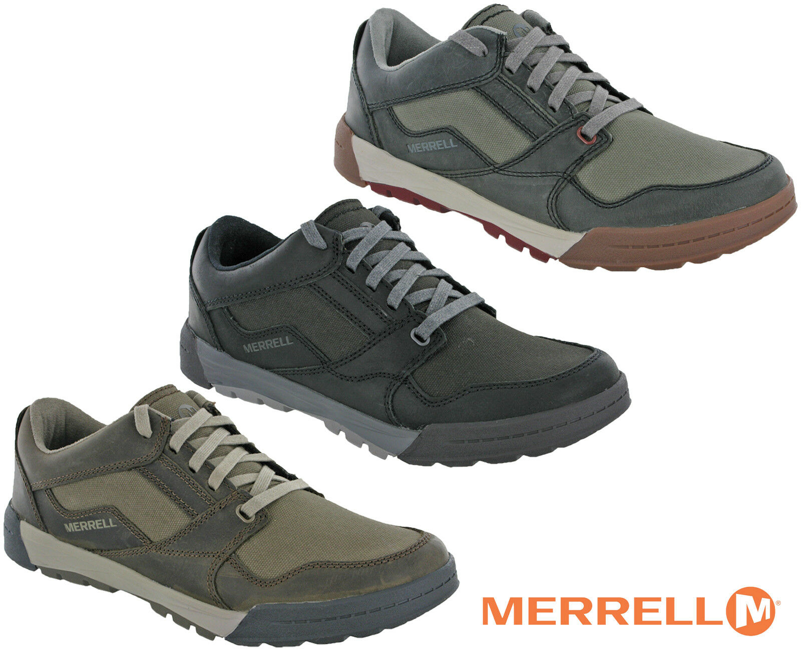 Merrell Berner Shift Lace shoes Walking Leather Mens Summer Lightweight Hiking