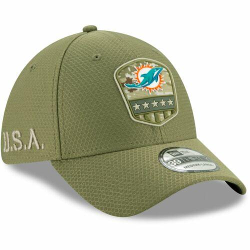 New Era 39Thirty Cap Salute to Service Miami Dolphins