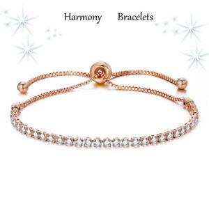 Dainty-Rose-Gold-Plated-Swarovski-Elements-Crystal-Bracelet-Harmony-Bracelets