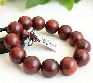 18mm natural Lobular Red Sandalwood Beads Tibetan Buddhism Bracelet