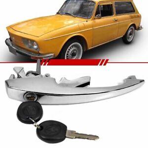 External Door Handle Chrome with 2 Keys for T1 Beetle 132132843840 VW Bug Beetle