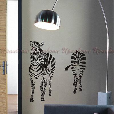 Animal Zebra Kid Children Boy Room Vinyl Wall Sticker Home Decor Decal Mural DIY