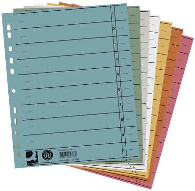 100 Trennstreifen Trennblätter Trennlaschen Register Aktenfahnen 10,5x24cm rot
