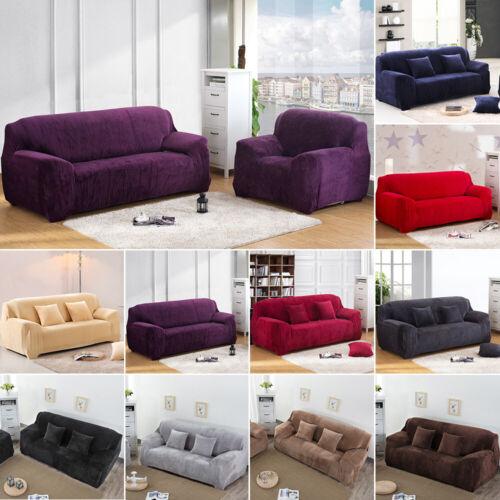 4 Seater Warm Plush Stretch Sofa Covers