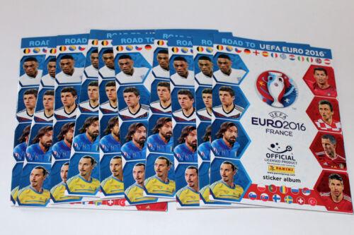 10 x vacía álbum Empty álbum not Mint! Panini Road to UEFA Euro 2016 France