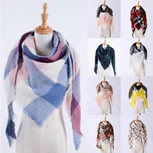 Women-Fashion-Warm-Cashmere-Soft-Shawl-Oversized-Plaid-Blanket-Triangle-Scarf