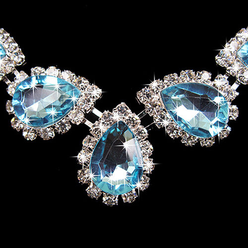 WEDDING-BRIDAL-BRIGHT-CRYSTAL-RHINESTONE-WATERDROP-NECKLACE-EARRING-JEWELRY-SET