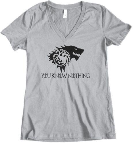Lyanna = Jon Snow Junior Fit V-Neck T-Shirt Women/'s Game of Thrones Rhaegar