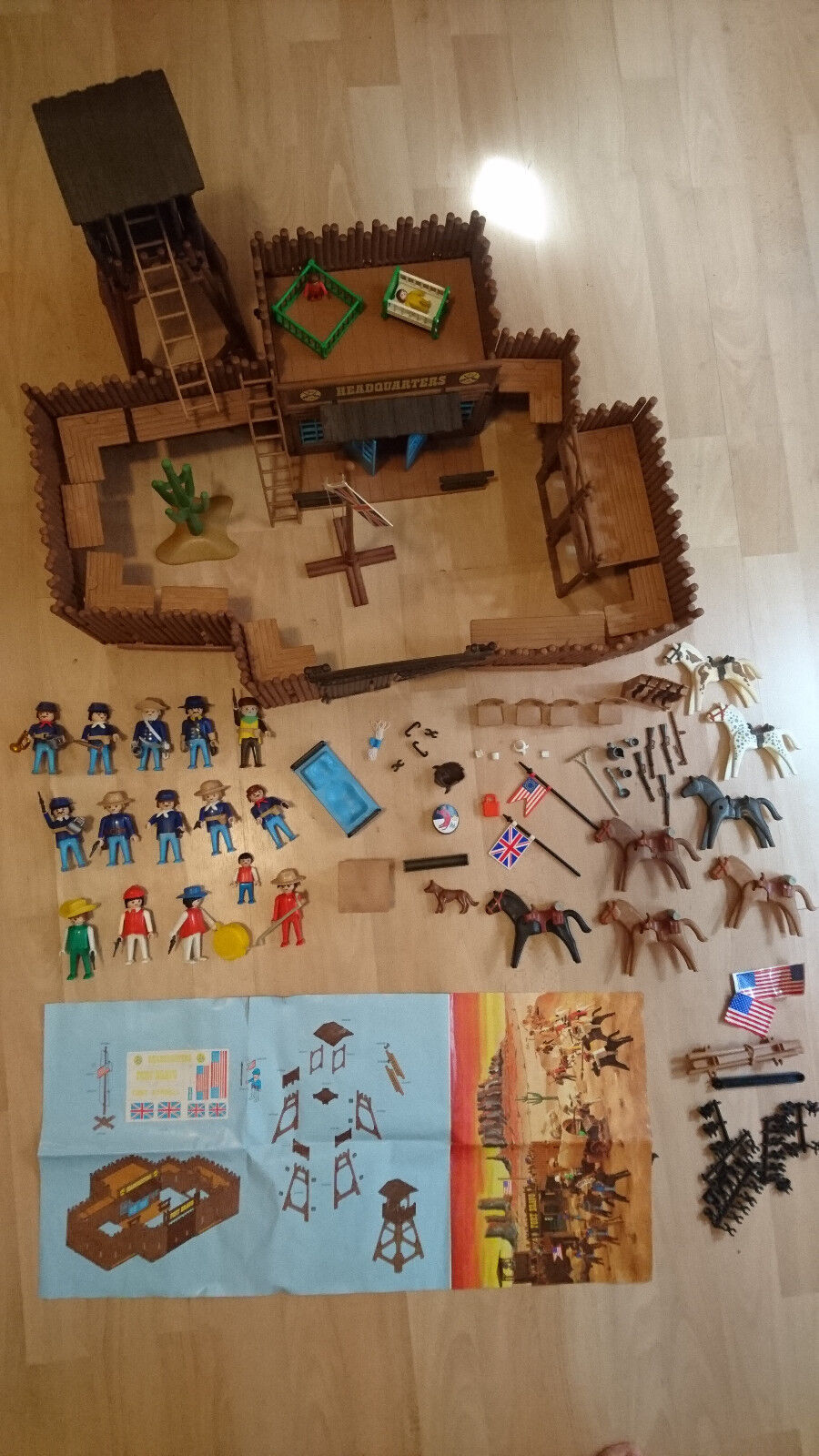 Playmobil 3773 'Fort Bravo Randall' cowboy 1988 vintage complete with extras