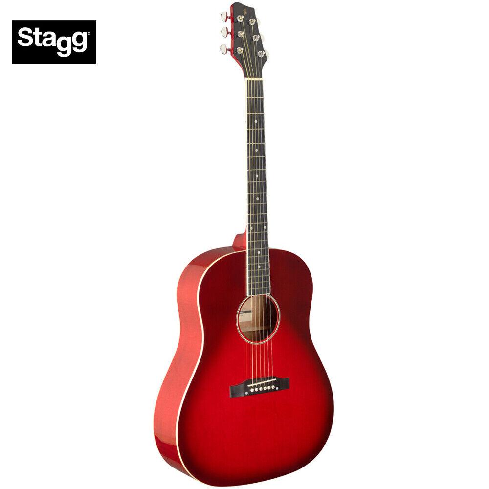 Stagg SA35 DS-TR Sloped Shoulder Dreadnought Acoustic Guitar - Transparent rot