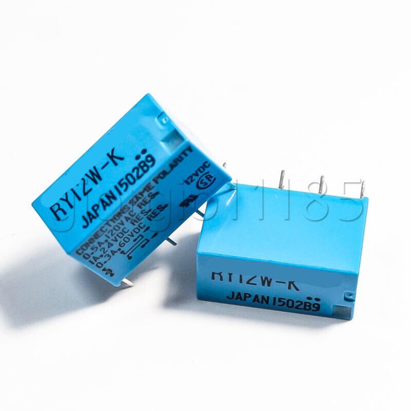 For Audio TAKAMISAWA RY12W-K 12V DPDT Signal Relay x4