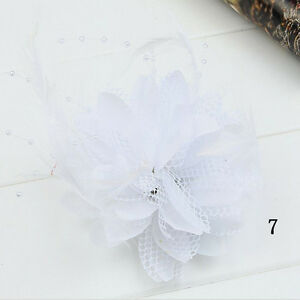 Pin-Bead-Fascinator-Party-Handmade-Feather-Hair-Clips-Hairband-Accessories