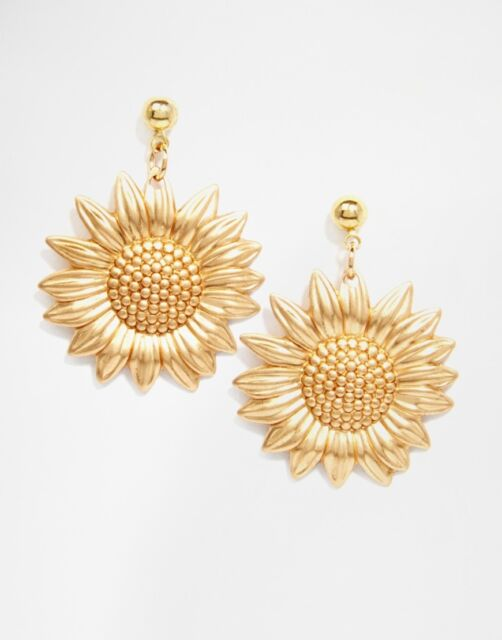Women's Regal Rose Sundance  Sunflower Gold Plating Earrings