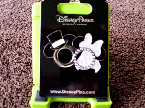Disney MICKEY /& MINNIE Top Hat Jeweled Ring /& Wedding Veil New Trading Pin