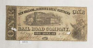 West-Point-Coins-1-New-Orleans-Jackson-amp-Great-Northern-RR-Co-Nov-16-1861