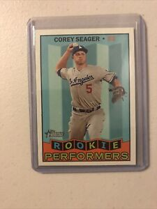 2016-Topps-Heritage-ROOKIE-PERFORMERS-Corey-Seager-HOT-INSERT-MINT-FREE-SHIPPING