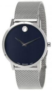 MOVADO Museum Classic 40MM Quartz Blue Dial Men's Watch 0607349