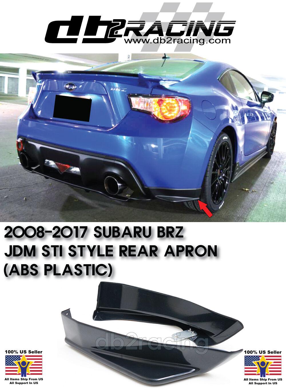 For Subaru BRZ STI 2013-2018 TS Type Rear Bumper Lip Aprons Spats Splitter Caps