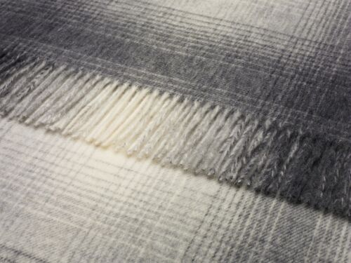 PURE LUXURY LAMBSWOOL THROW BLANKET by BRONTE this is WHISTLER GREY