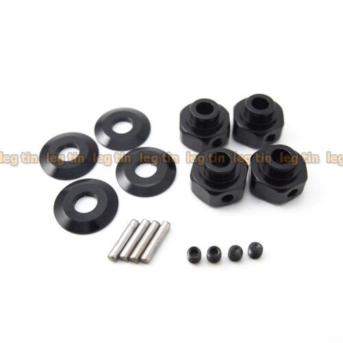 LT10010bk Black for Axial Wraith Alloy Hexagon Wheel Hub Set 4 pcs