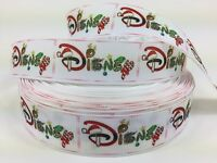 50 Yards 1 Disney Christmas Word Grosgrain Ribbon Hair Bows Scrapbooking Lisa