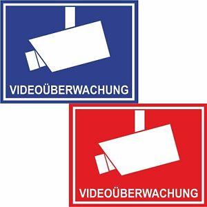 Details Zu Aufkleber Video überwachung Warnaufkleber Kamera überwachung 140 X 103 Mm Groß