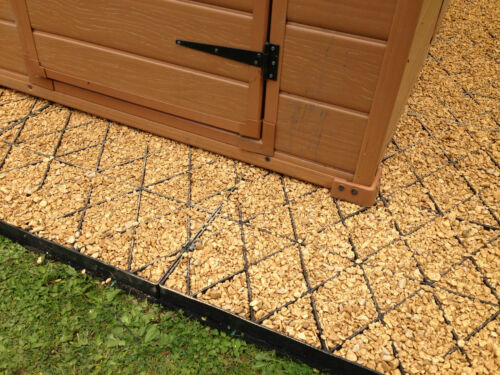 MEMBRANE PLASTIC GRAVEL GRIDS SHED BASE KIT 10x6 FEET GARDEN GRAVEL GRID BASE