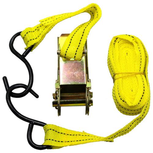 Yellow Jacket 13' Ratchet Tie Down Capacity Strap Tool Car Truck