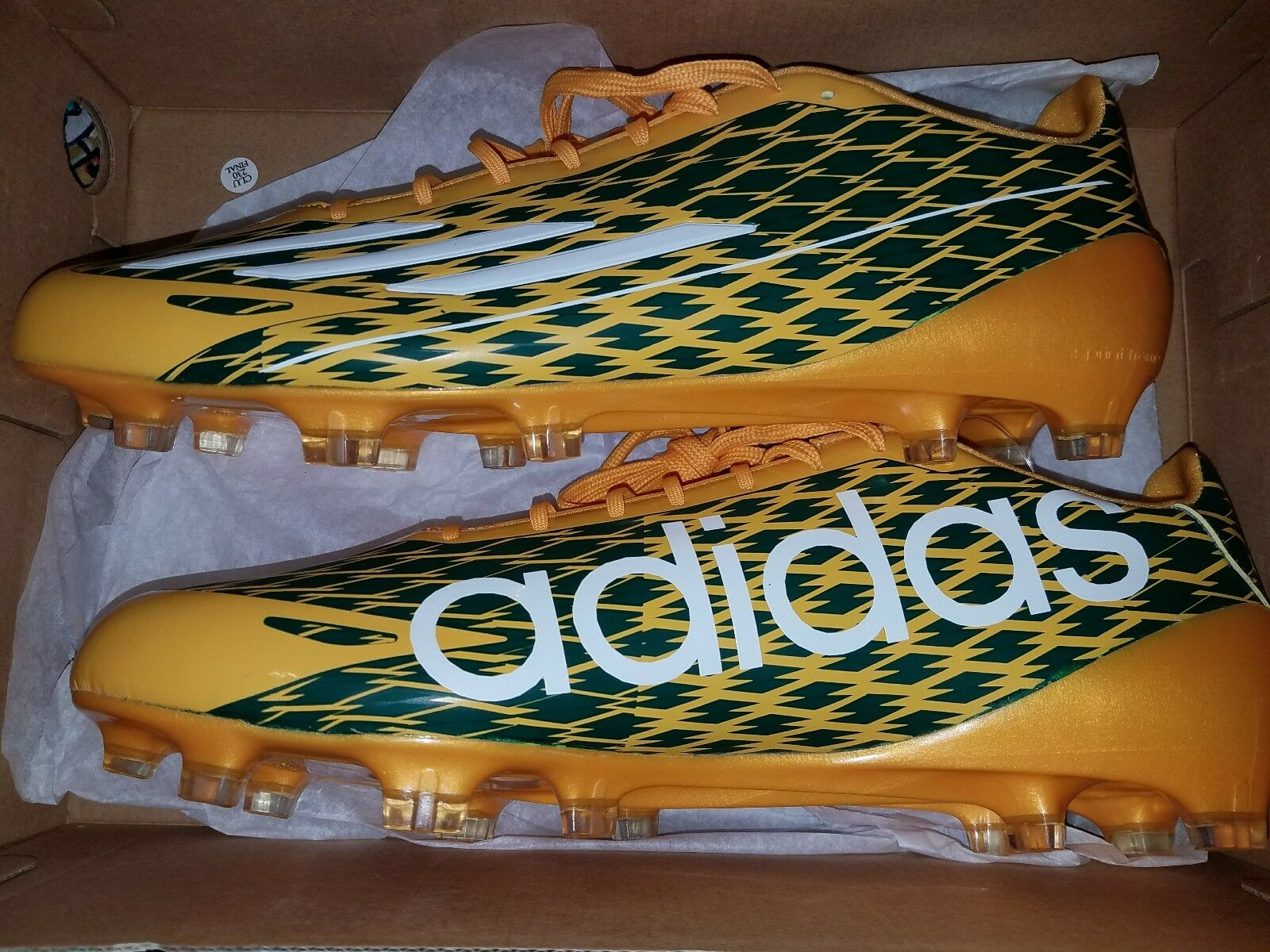 Adidas ASP 5-Star 4.0 Sprintframe Football Cleats Size 12.5 gold Green White
