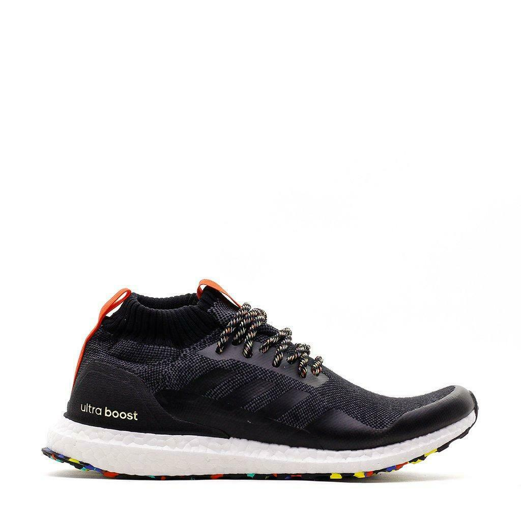 Mens ADIDAS ULTRA BOOST MID Black Running Trainers G26841