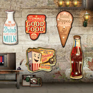 Beer Wall Decor vintage led light poster metal tin signs beer pub bar art wall