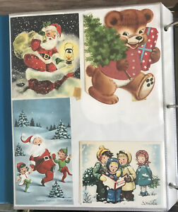 Vintage-Scrapbook-Cards-Cutouts-Lot-Of-Over-350-Xmas-Easter-Valentines-Etc