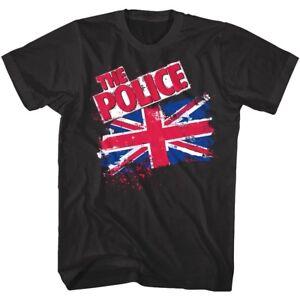 Sting-amp-The-Police-Union-Jack-British-Flag-Mens-T-Shirt-Rock-Band-Concert-Merch
