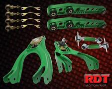 Honda Civic Del Sol Front & Rear Camber Upper Lower Control Arm Full Kit Green
