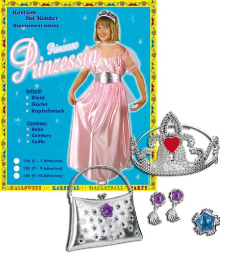 Prinzessin Kostüm Set 116 140 mit Schmuck Spielset rosa 129396513